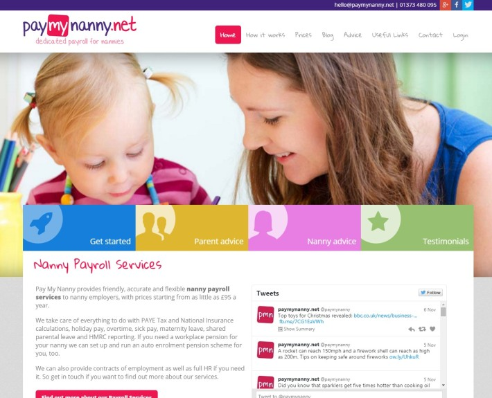 Pay My Nanny Web Design